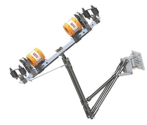 出口型单双绳随动式钢丝绳自动探伤系统