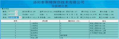 便携型钢丝绳探伤仪检测报告分级统计表